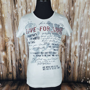 Sundance Quotable Fitted Short Sleeve Tee Size S